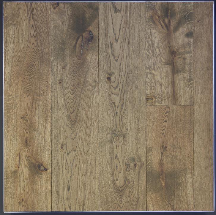 Eiken houten vloer dubbel gerookt + corcol + naturel