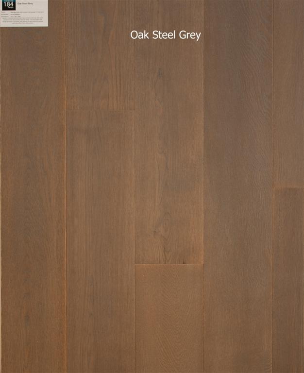 Oak Steel Grey, Behandeld eiken multiplank vloer Breda