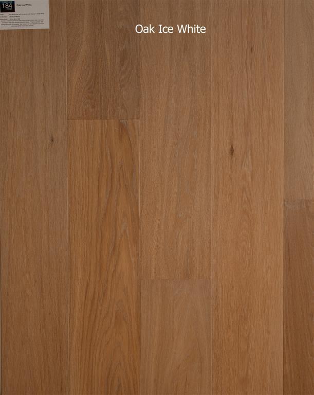 Oak Ice White, Behandeld eiken multiplank vloer Breda